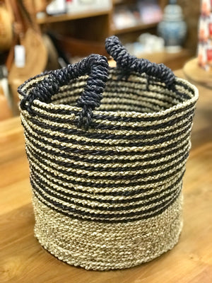 Basket Stripey with Handles