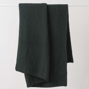 Throw Knit Wool Nori