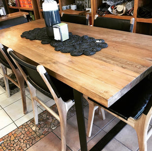 Dining Table Recycled Teakwood 220x90x5cm