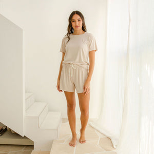 Sleepwear Shorts Harriet Sand
