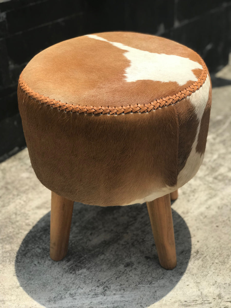 Ottoman Stool Cowhide