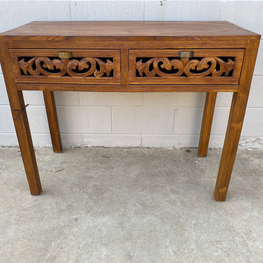 Console Table Mirlan 2 Drawer Carved