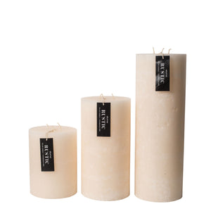 Candle Rustic Cream Pillar