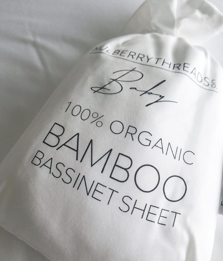 Bamboo Bassinet Fitted Sheet Set