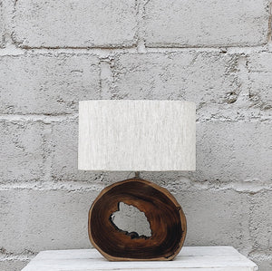 Lamp Donut Teakwood