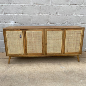 Side Board Rattan Recycled Teak