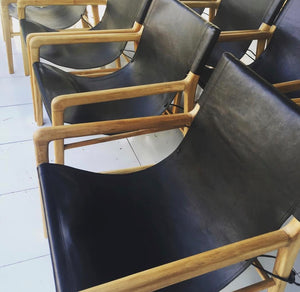 Chair Leather Sling Black