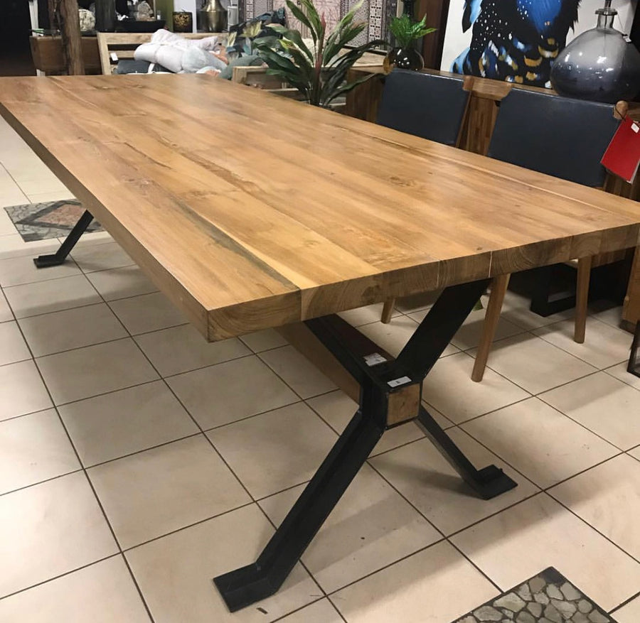 Dining Table Recycled Teakwood 250x100x4cm