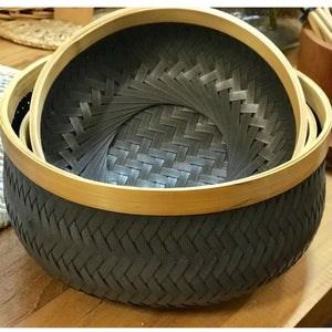 Basket Bowl Bamboo Rim