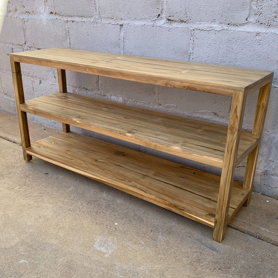 Bookcase  3 Shelf Recycled Wood