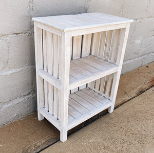 Bookcase White Wood Tall