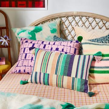 Cushion Estee Stripe Petrol
