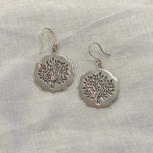 Earring Sterling Silver Tree Of Life