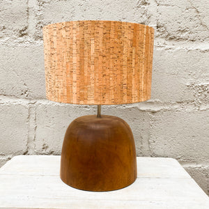 Lamp Wood Round Top Wide