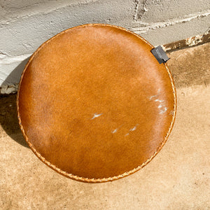 Ottoman Stool Cowhide Round