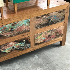 Console 6 Drawer Boatwood 150x46x60h