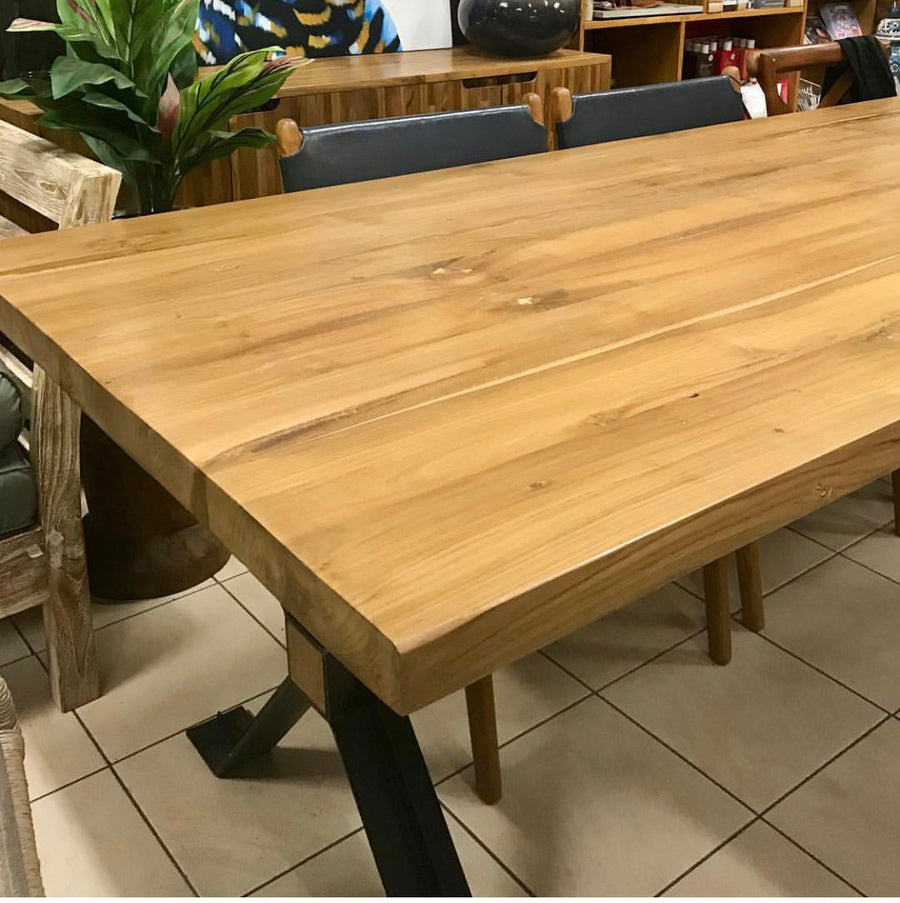 Dining Table Recycled Teakwood 200x100x5cm