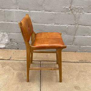 Bar stool Leather Padded 65cm Camel