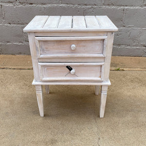 Bedside 2 Drawer White
