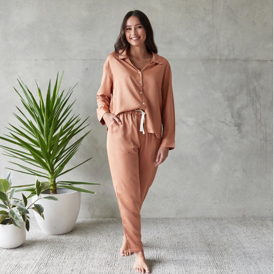 Sleepwear PJ Set Jo Rust