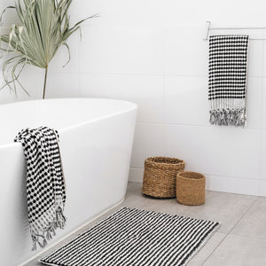Turkish Bath Towel Black & White