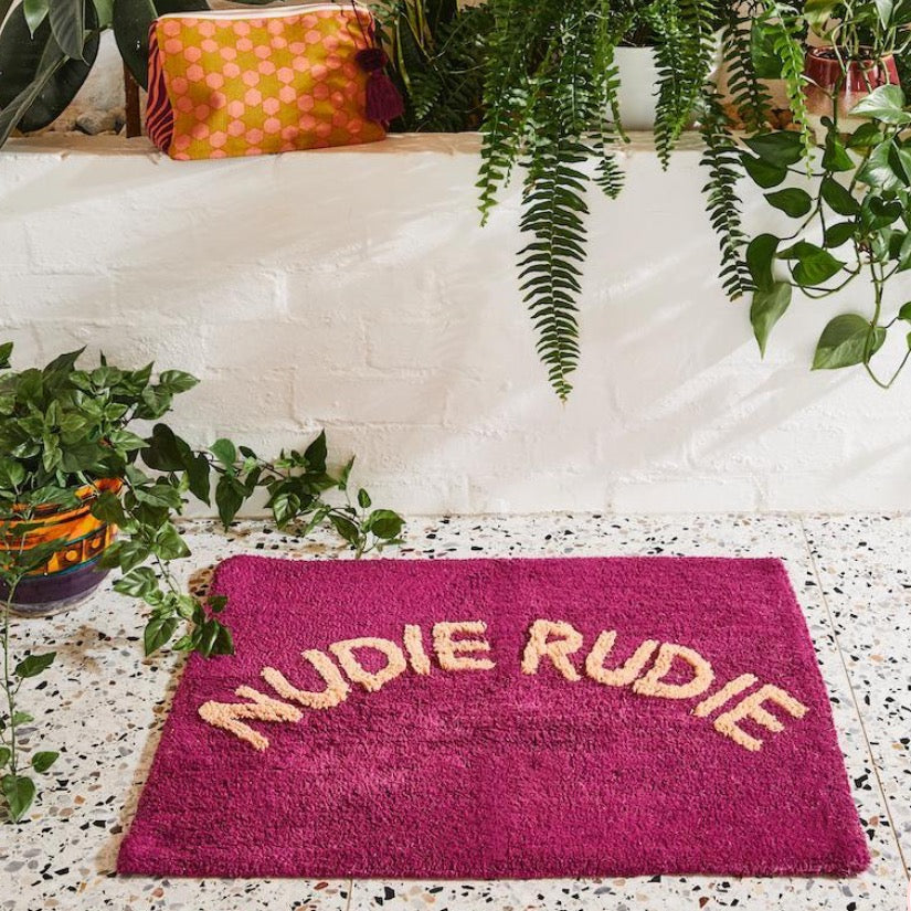 Nudie Rudie Bath Mat Boysenberry