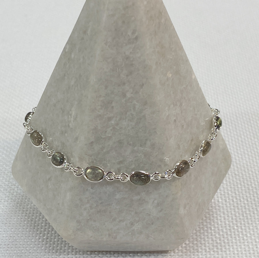 Bracelet Silver Small Gemstones