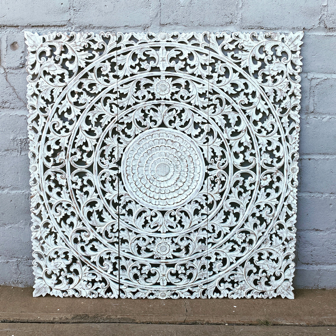 Wall Panel Carved 3 Panel