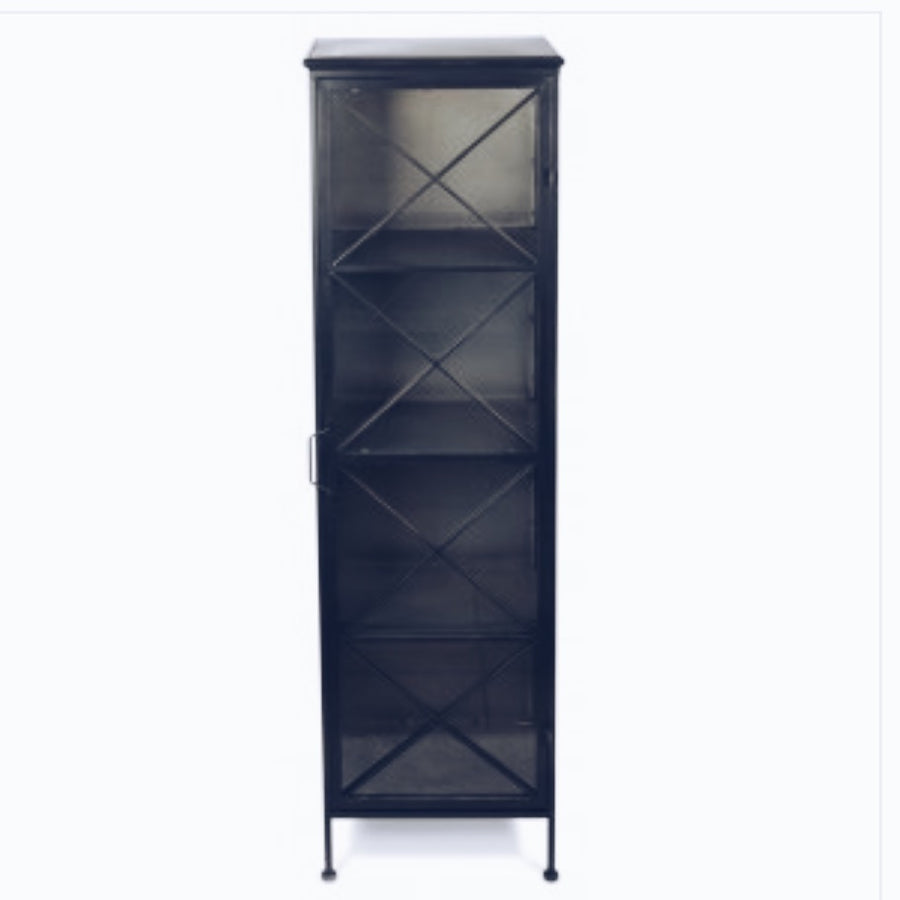 Cupboard Metal X Single Glass Door