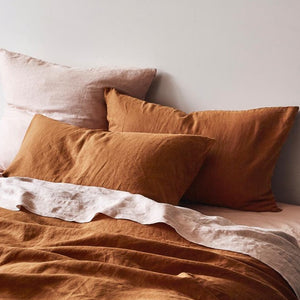 Pillowcase Set Tobacco Linen