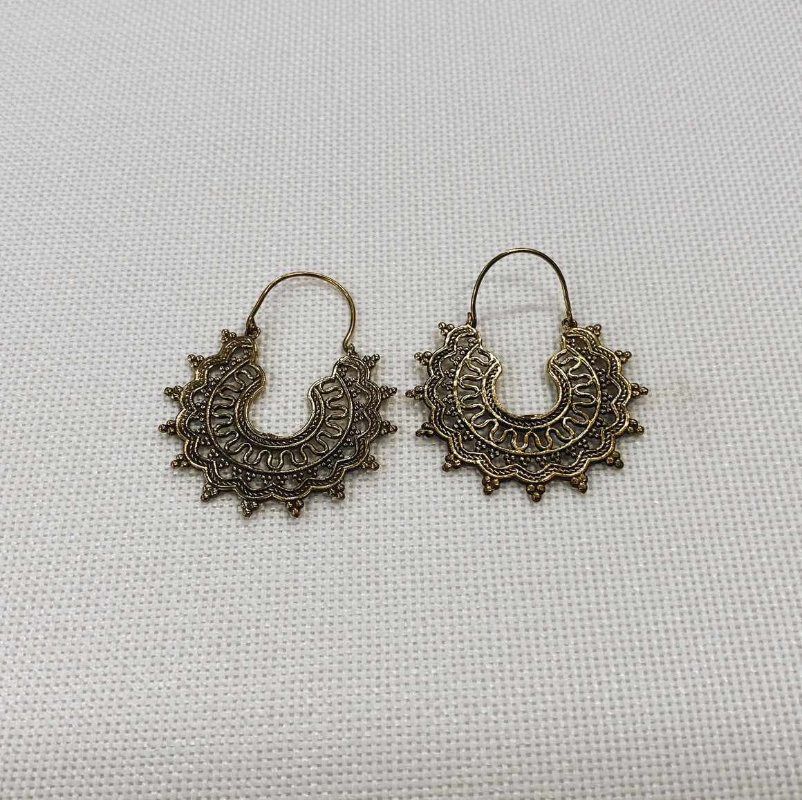Earring Brass Morning Sun