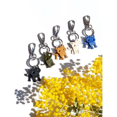 Keyring Leather Cats