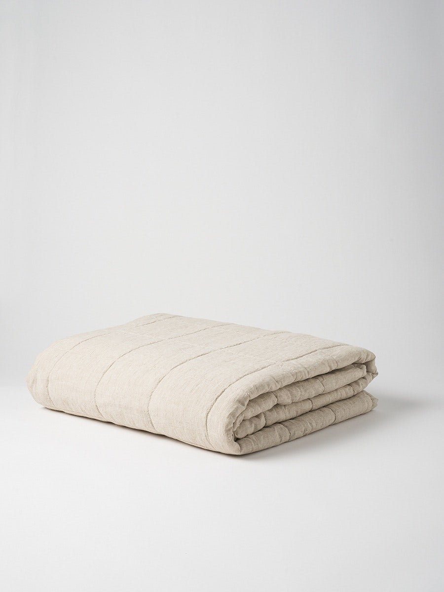 Blanket Quilted Sove Linen
