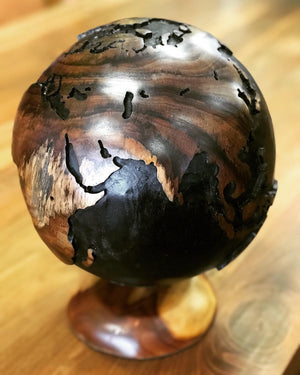 Globe Handcarved Teakwood