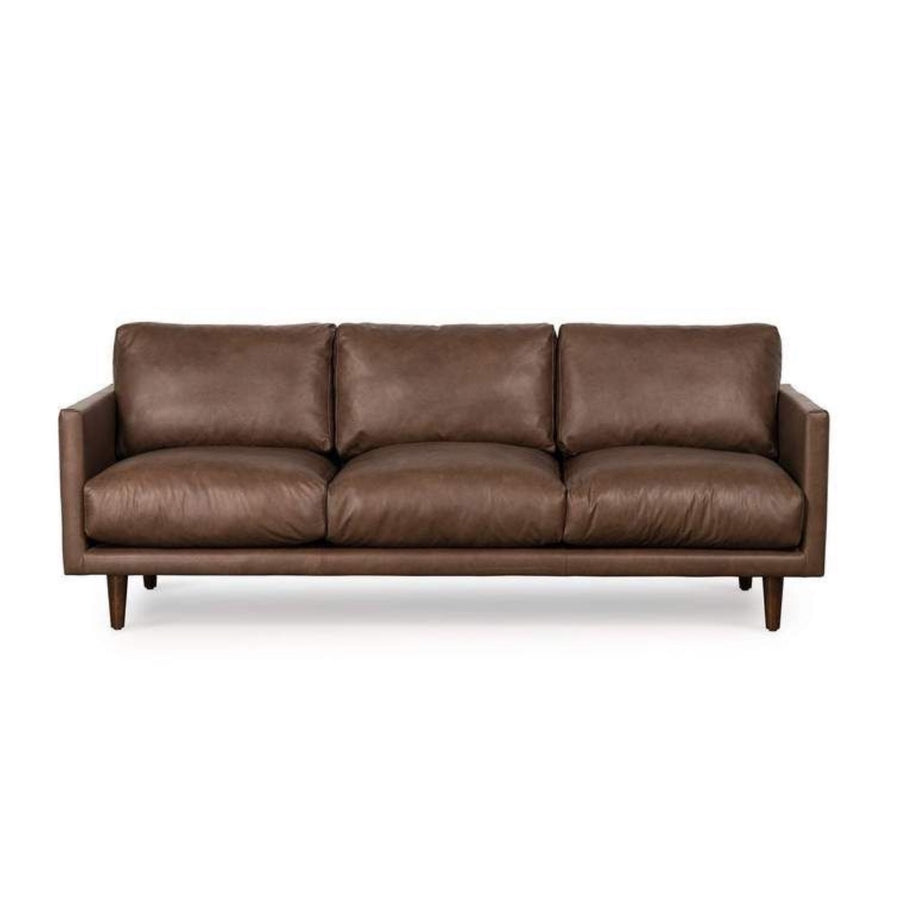 Lounge Sofa Carlson 3 Seater Brown Leather