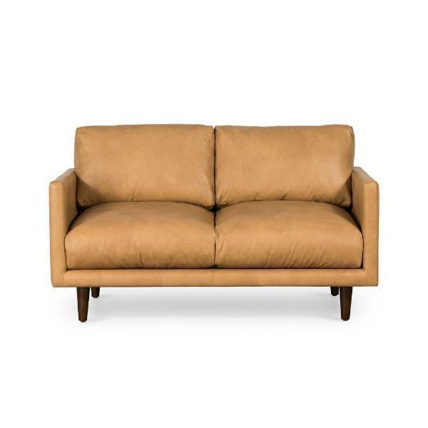 Lounge Sofa Carlson 2 Seater Tan Leather