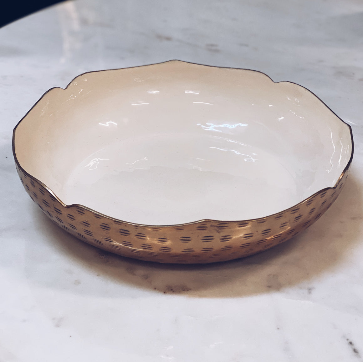 Bowl Sculptured Enamel