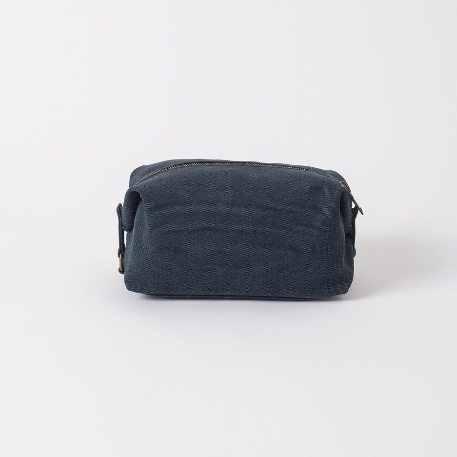Mens Wash Bag Canvas Waxed