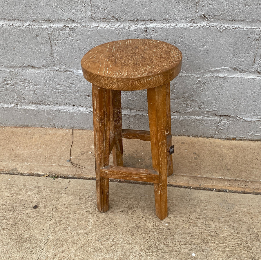 Bar Stool Recycled Teakwood