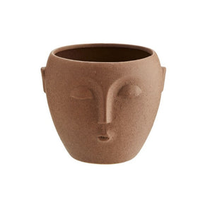 Pot Plant Terracotta Face