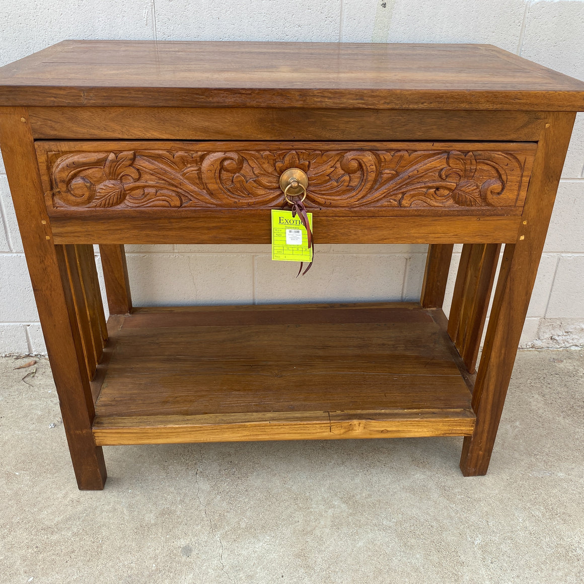 Console Table 1 Drawer Carved