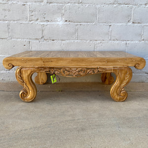 Coffee Table Amarni Carved Was $995