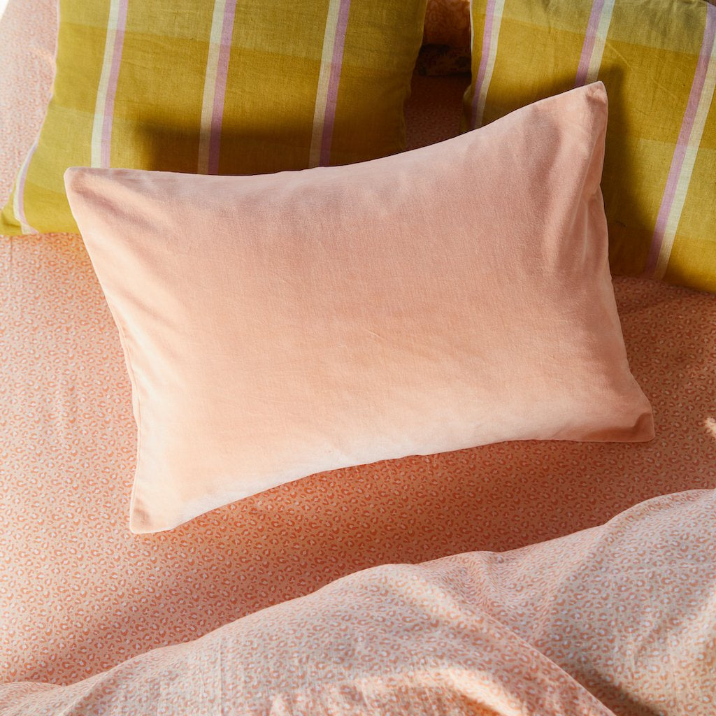 Pillowcase Tanis Velvet Peach