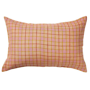 Pillowcase Set Isabel Check Linen Bellini
