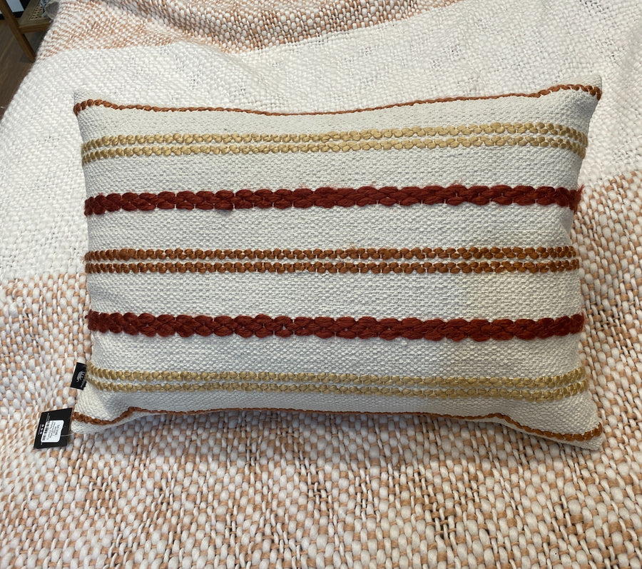 Cushion Nelson Red Stitched Stripe