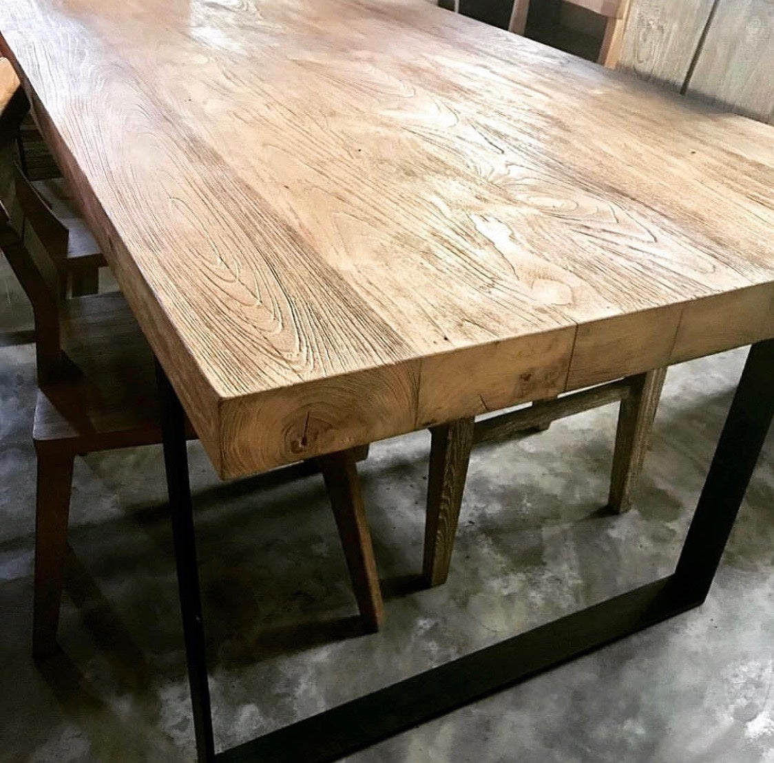 Dining Table recycled Teakwood 190x90x7cms