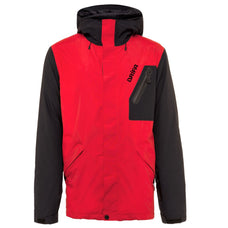 insulated snowboard jacket man's red and black