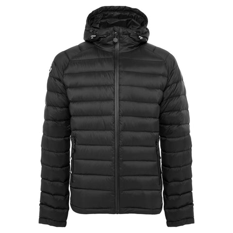 men's black waterproof down jacket