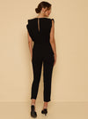 Luxe Deluxe Borderline V Neck Jumpsuit