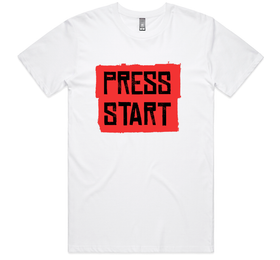 Outlaw Press Start Tee (Short Sleeve White)